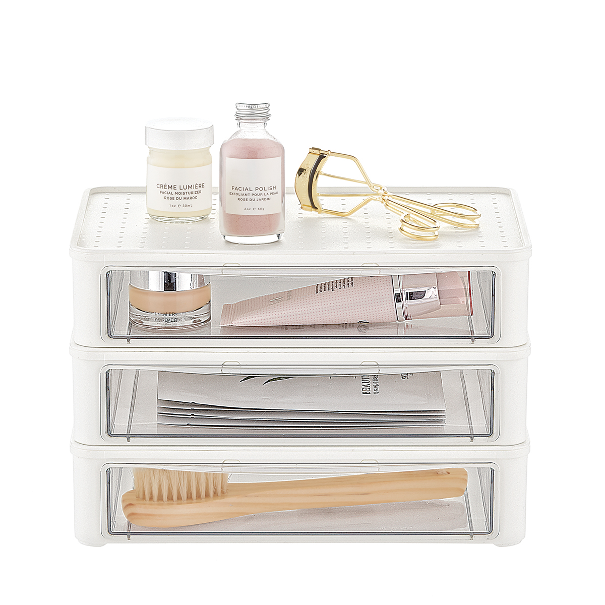 madesmart 3-Drawer Stacking Makeup Starter Kit