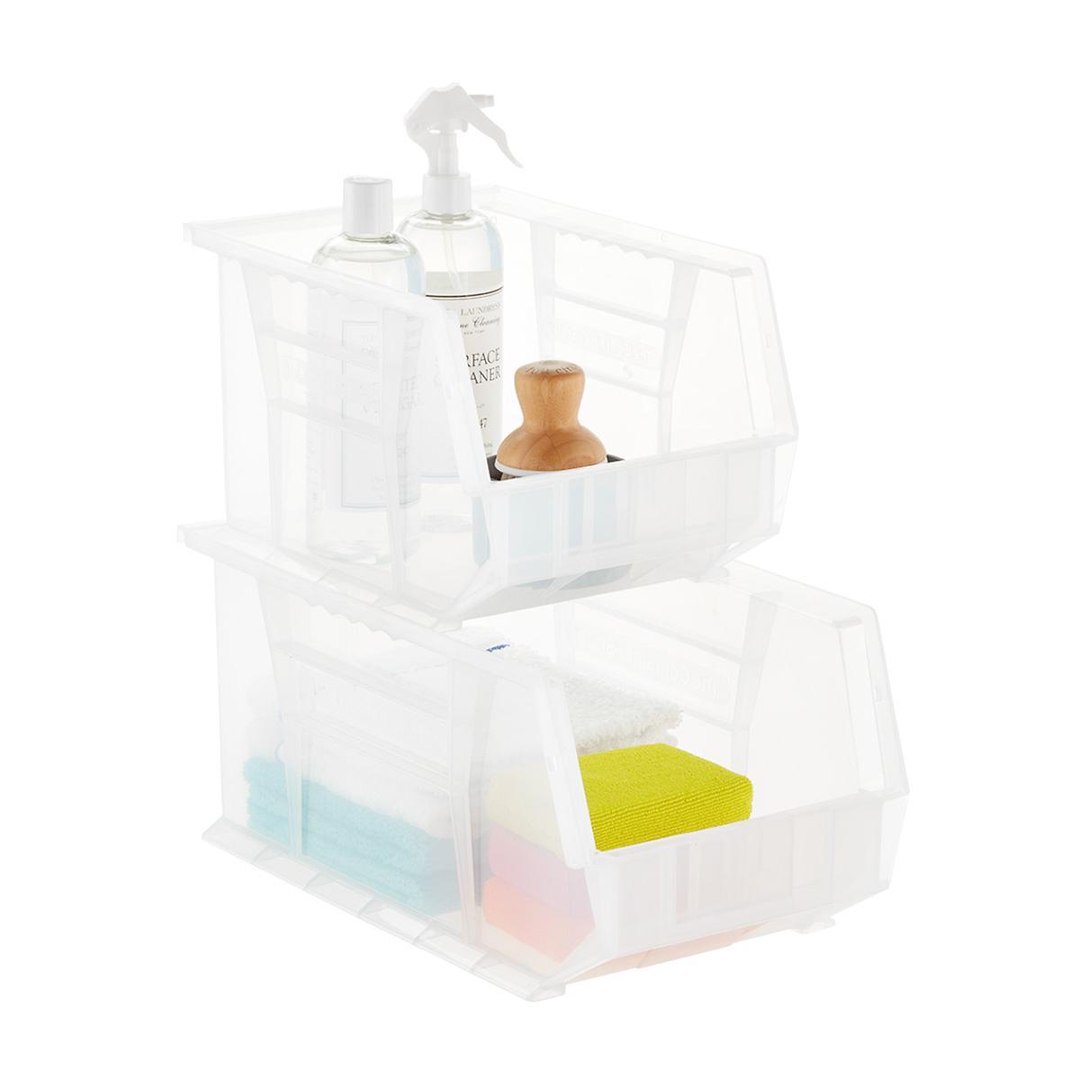 Utility Medium Stackable Plastic Bins