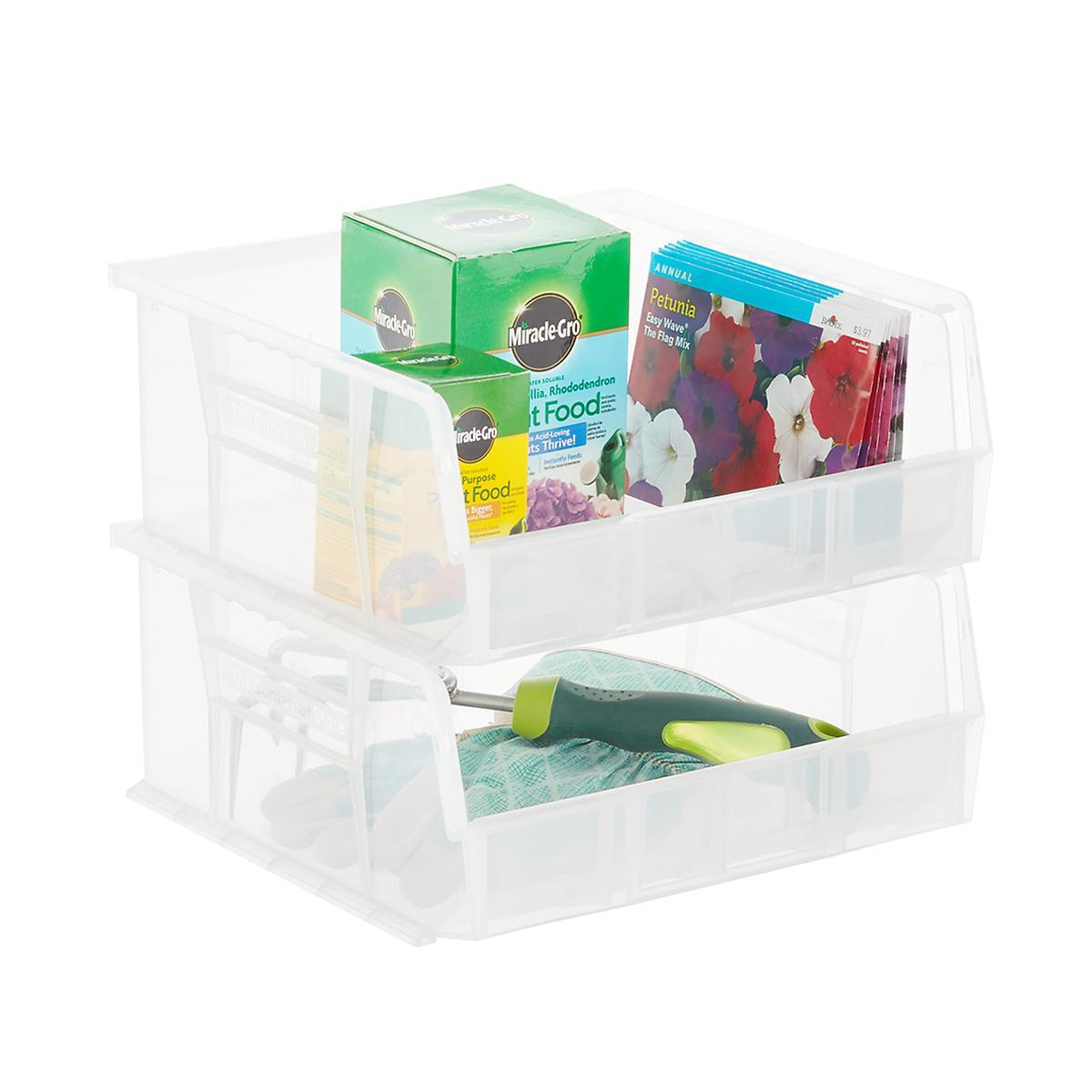 Utility Wide Stackable Plastic Bin