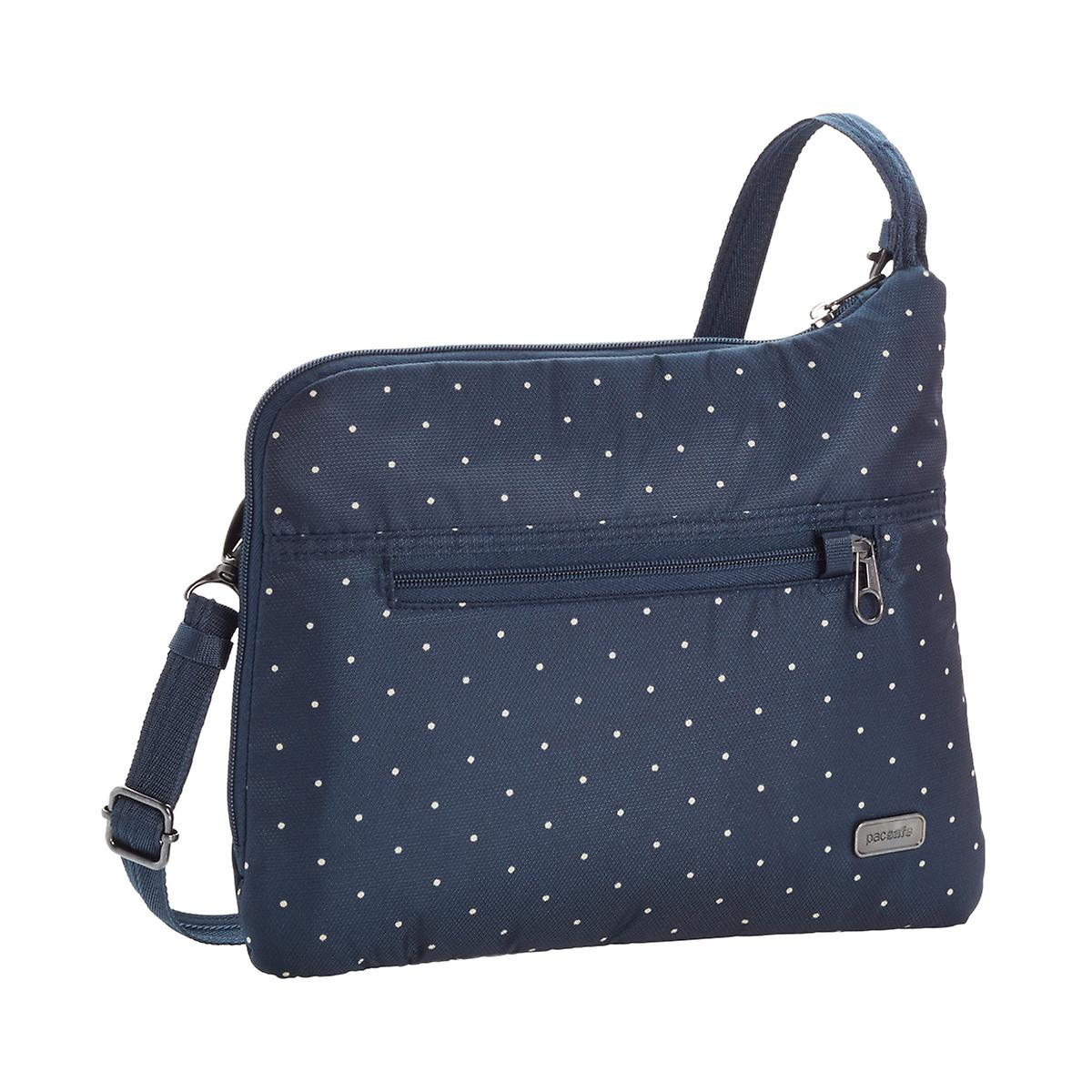 Outpac Navy Dots Daysafe Slim Crossbody