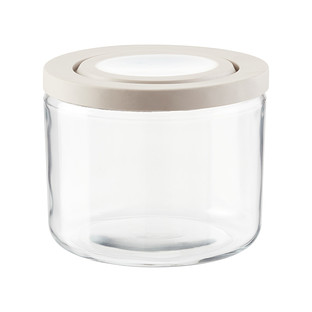 Anchor Hocking 3 qt. TrueFit Glass Jars with Grey Lid