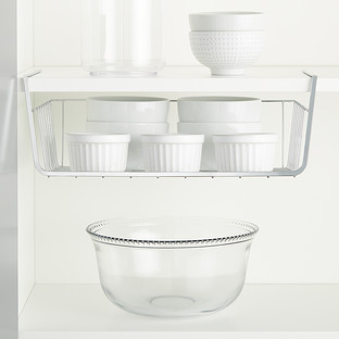 Chrome Undershelf Storage Baskets