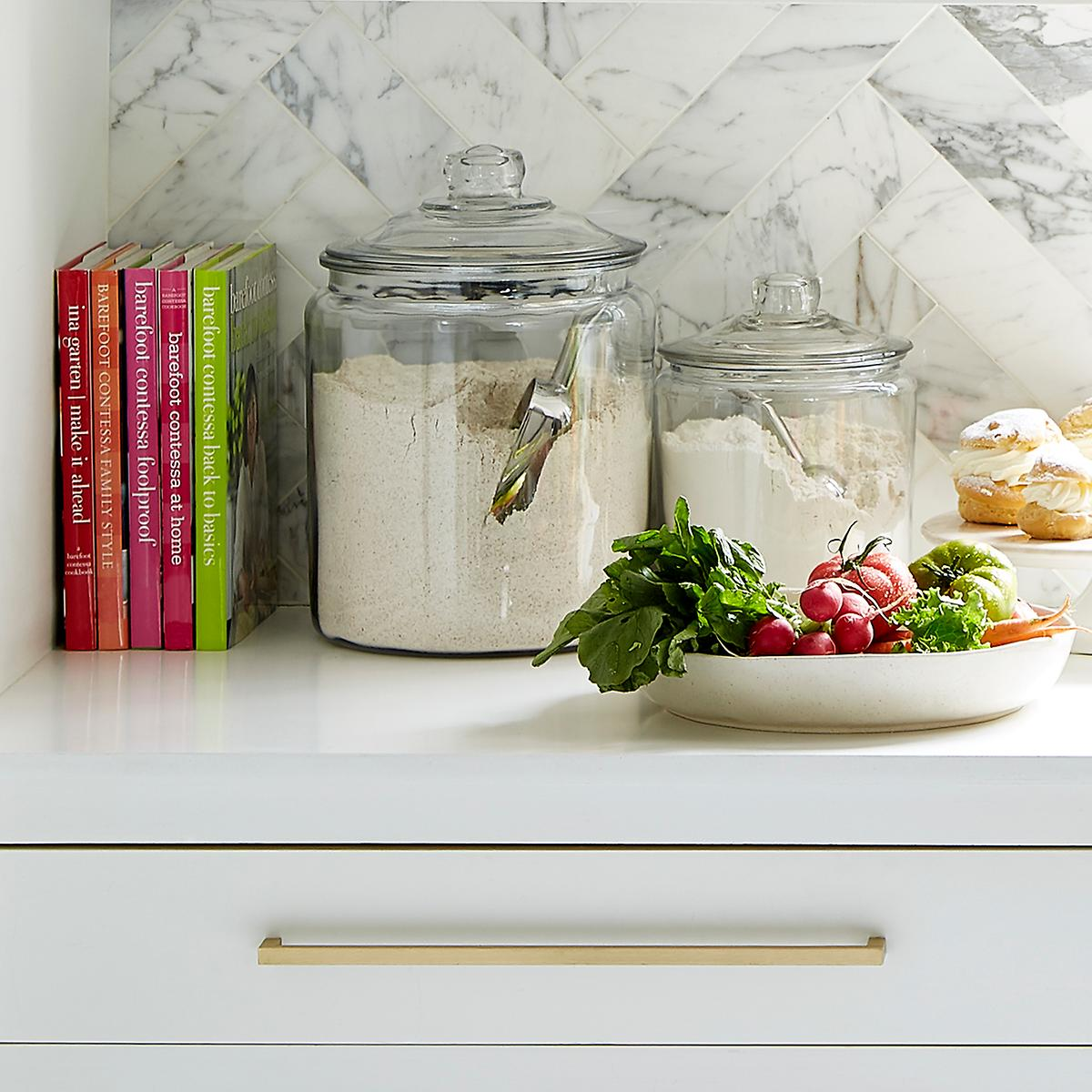 Anchor Hocking Glass Canisters With Glass Lids The Container Store
