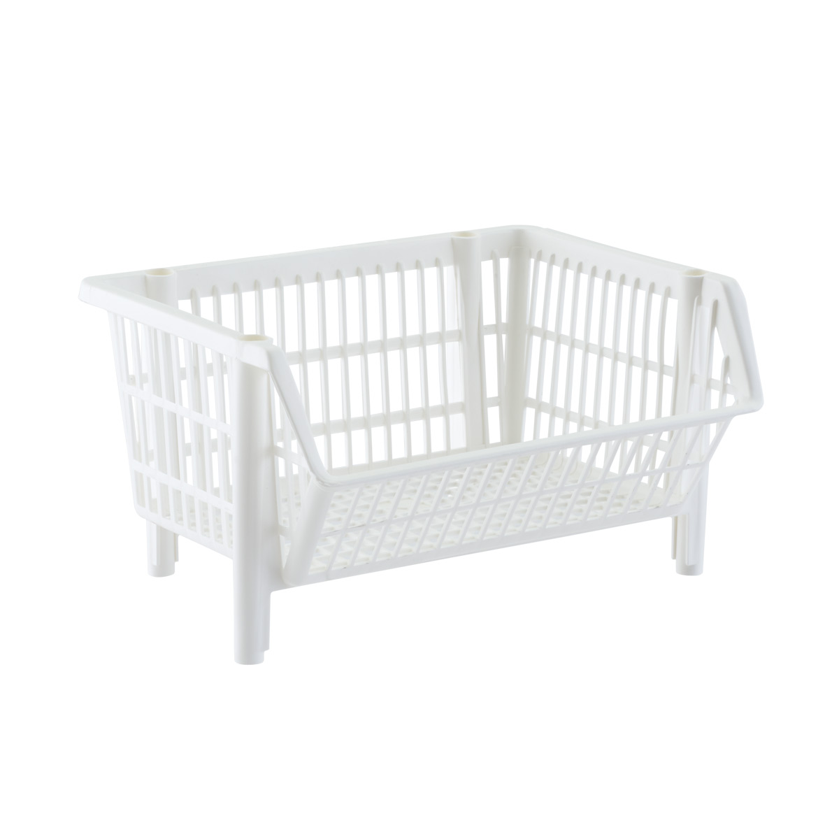 Our Basic White Stackable Baskets