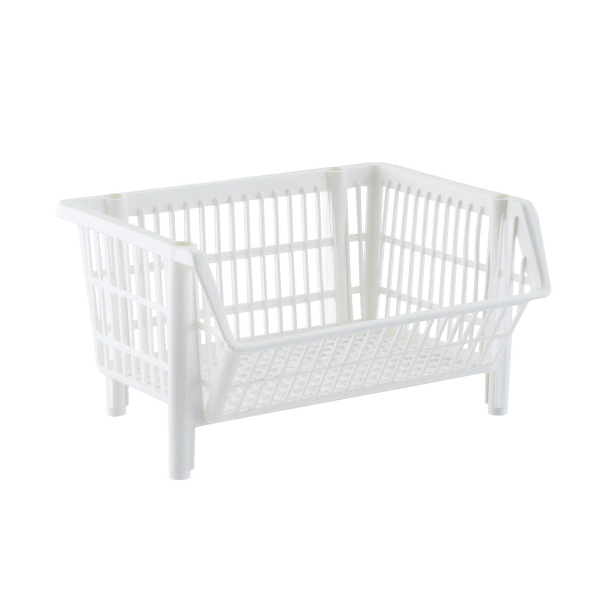 Our Basic White Stackable Basket