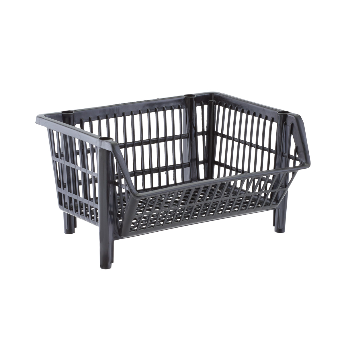 Our Basic Black Stackable Baskets