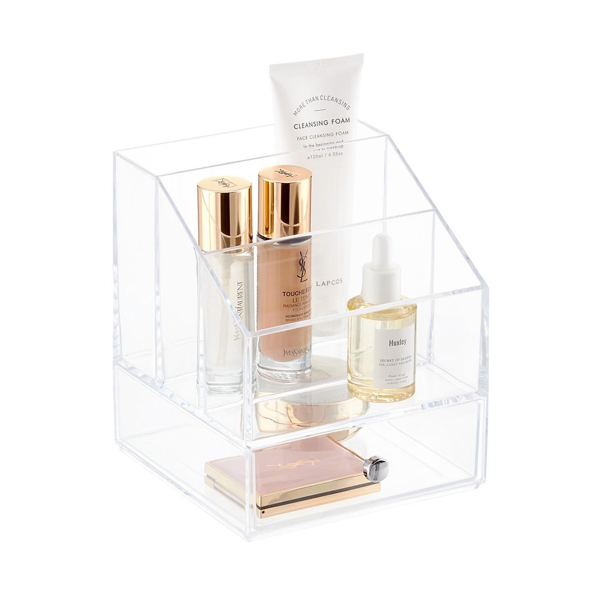 InterDesign Clarity Cosmetics & Palette Organizer with Drawer
