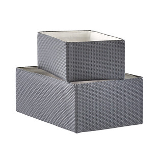 Grey Woven Kiva Storage Bins  sc 1 st  The Container Store & Decorative Storage Bins | The Container Store
