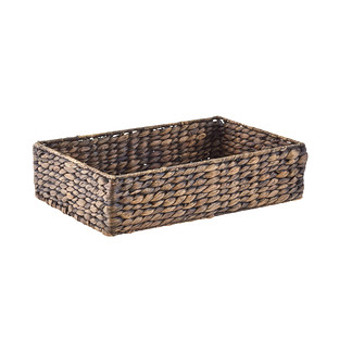 Large Mocha Water Hyacinth Tray with Handles