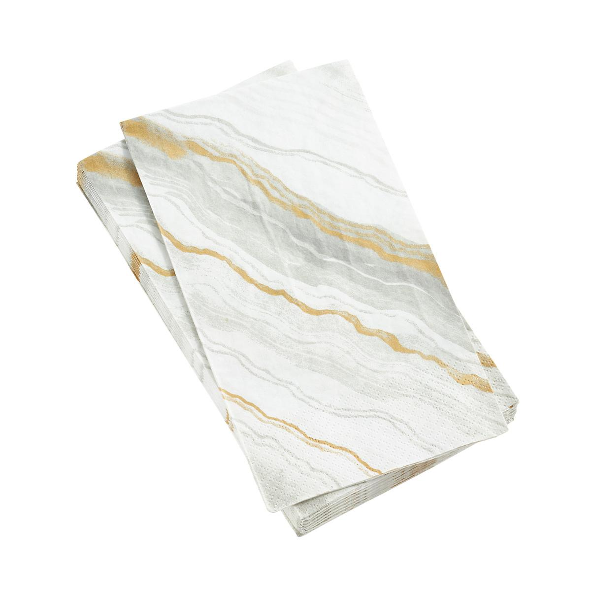Marble Grey Guest Towels
