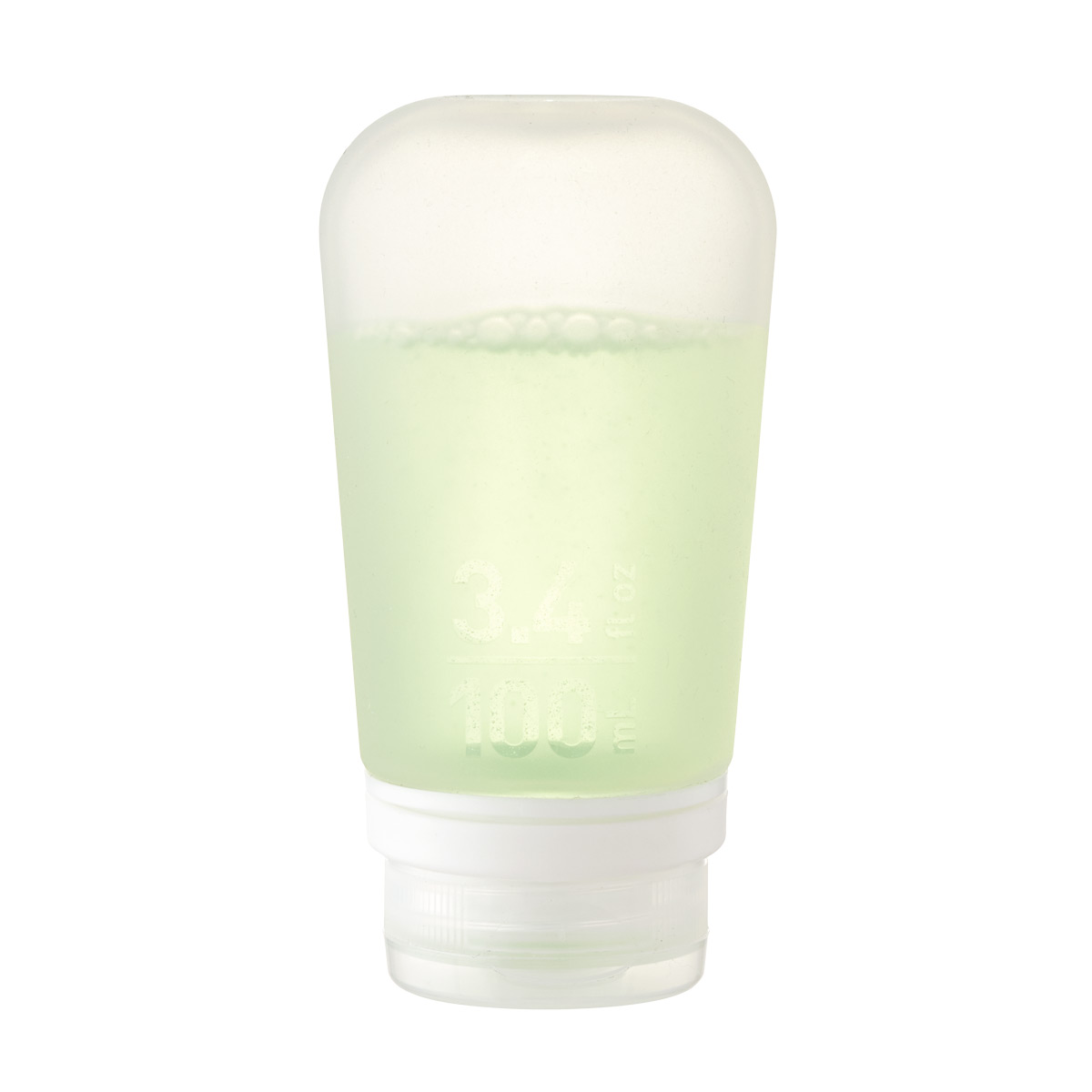 Clear 3.4 oz. Silicone GoToob Travel Bottle
