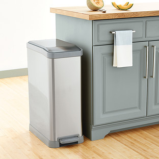 Stainless Steel 12 gal. Rectangle Step Can