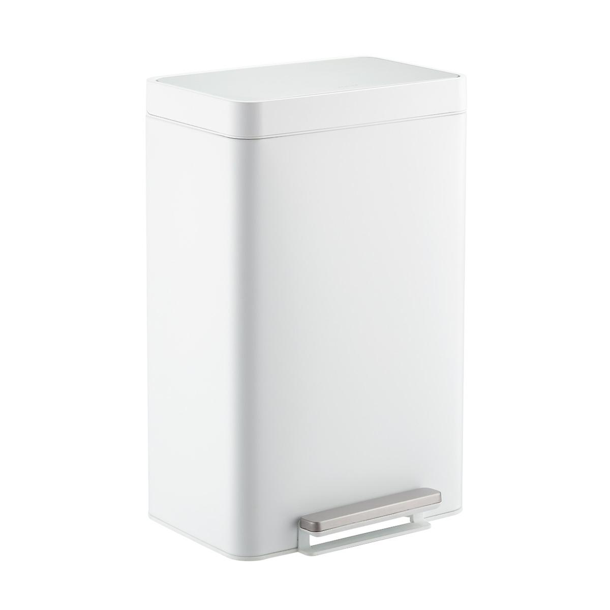 Kohler White 13 Gal Steel Step Trash Can The Container