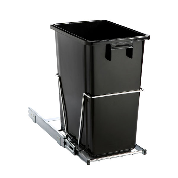 Black 8 Gal Under The Cabinet Pull Out Trash Can The