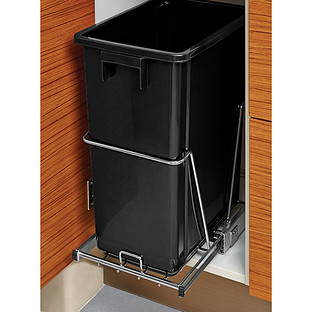 in cabinet trash cans for the kitchen black 8 gal the cabinet pull out trash can the 17811