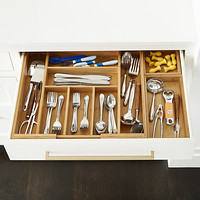 Drawer organizers utensil holders silverware trays the bamboo large drawer organizer starter kit workwithnaturefo