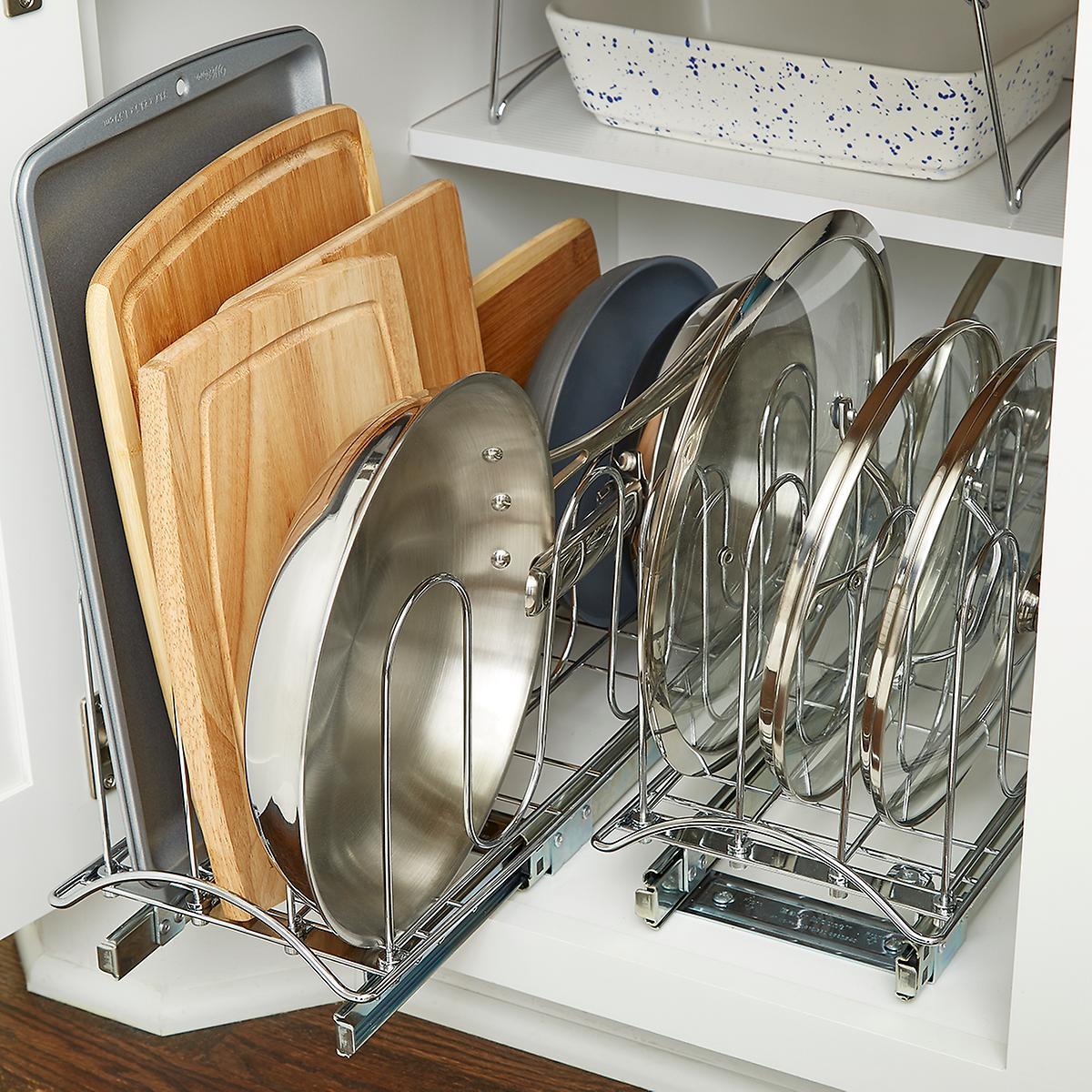 Kitchen Shelf Arrangement: Lower Cabinet Organization Starter Kit