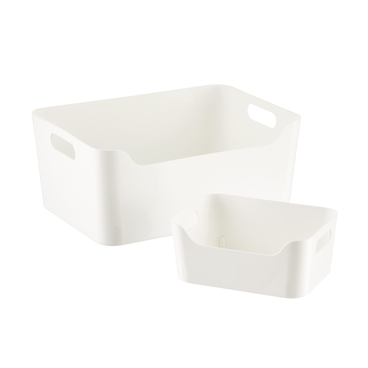 White Plastic Storage Bins with Handles  sc 1 st  The Container Store : white plastic storage bins  - Aquiesqueretaro.Com