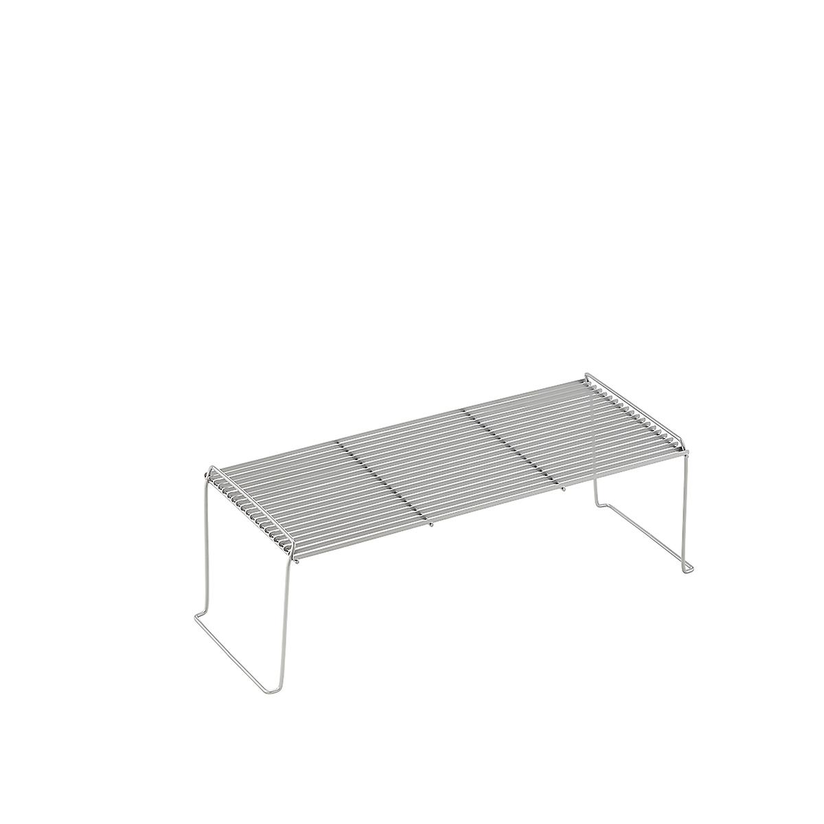 Medium & Half-Medium Silver Wire Stacking Shelves | The Container Store