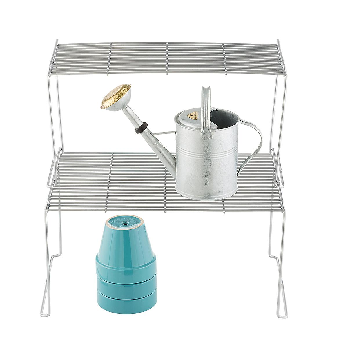 Large & Half-Large Silver Wire Stacking Shelves