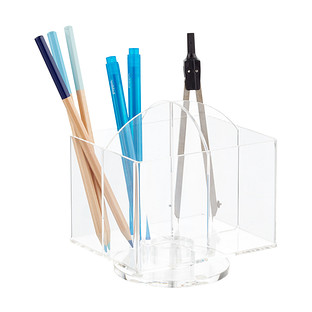 Rotating 4-Section Acrylic Pencil Cup