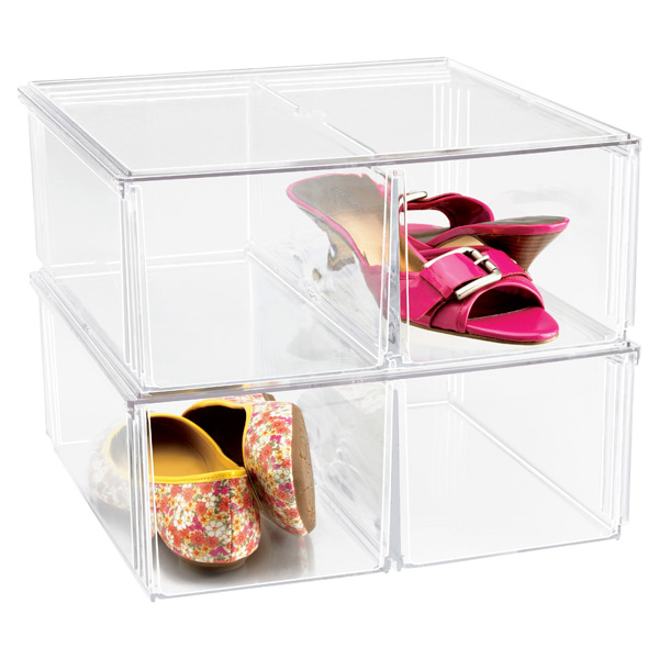 Premium Stacking Shoe Bin Case of 6