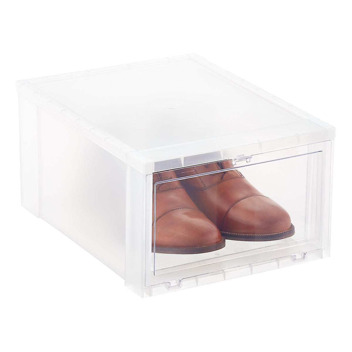 Men S Drop Front Shoe Box Case Of 6 The Container Store