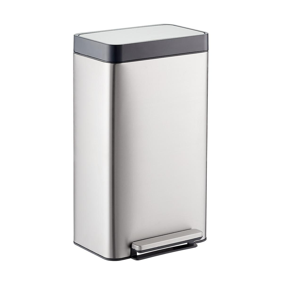kohler stainless steel 8 gal loft step trash can the container store. Black Bedroom Furniture Sets. Home Design Ideas