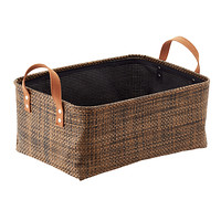 Copper & Mocha Kiva Foldable Bin with Handles Product Image