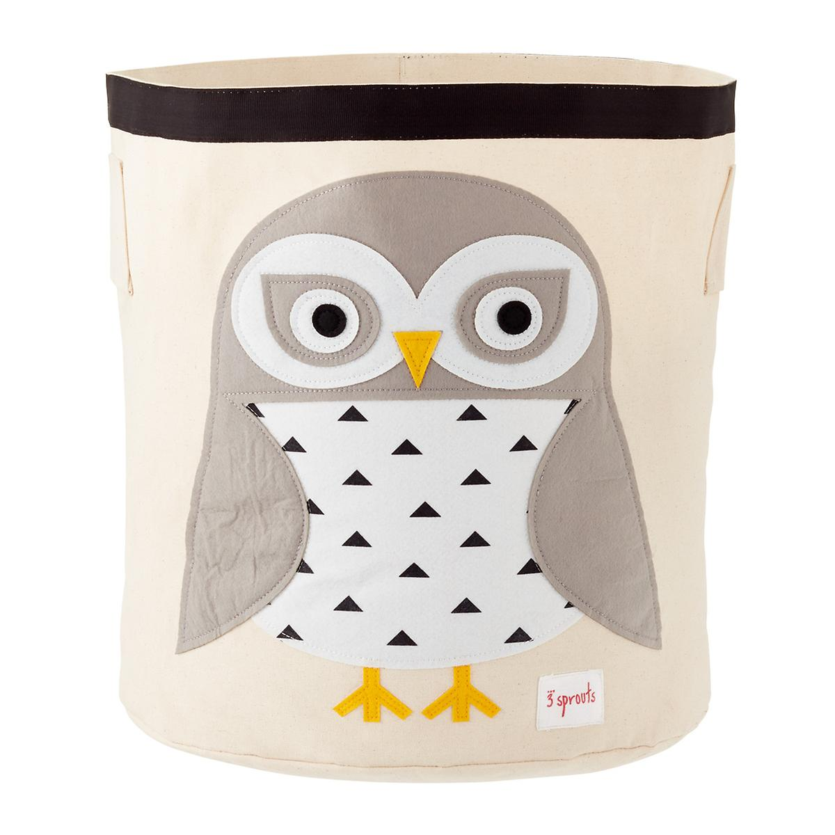 3 Sprouts Snow Owl Canvas Toy Storage Bin The Container Store