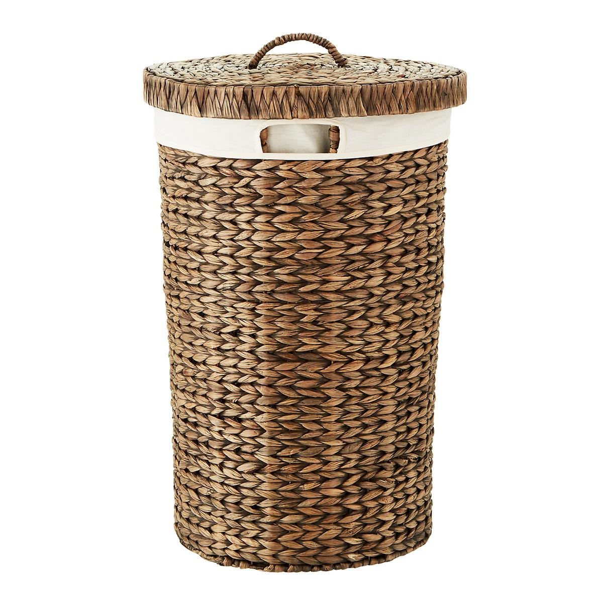Mocha Round Water Hyacinth Hamper