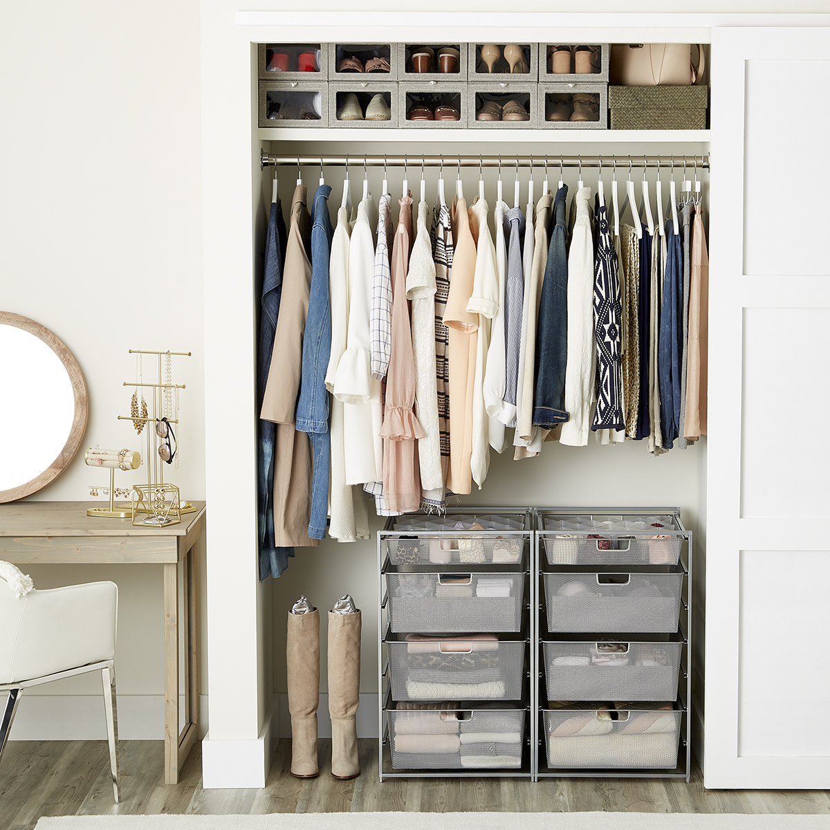 Women's Small Closet with Drawers