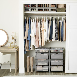 womens small closet with drawers the container store