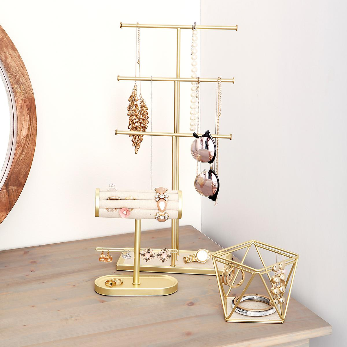 Jewellery Stand Designs : Umbra gold tribeca necklace stand the container store