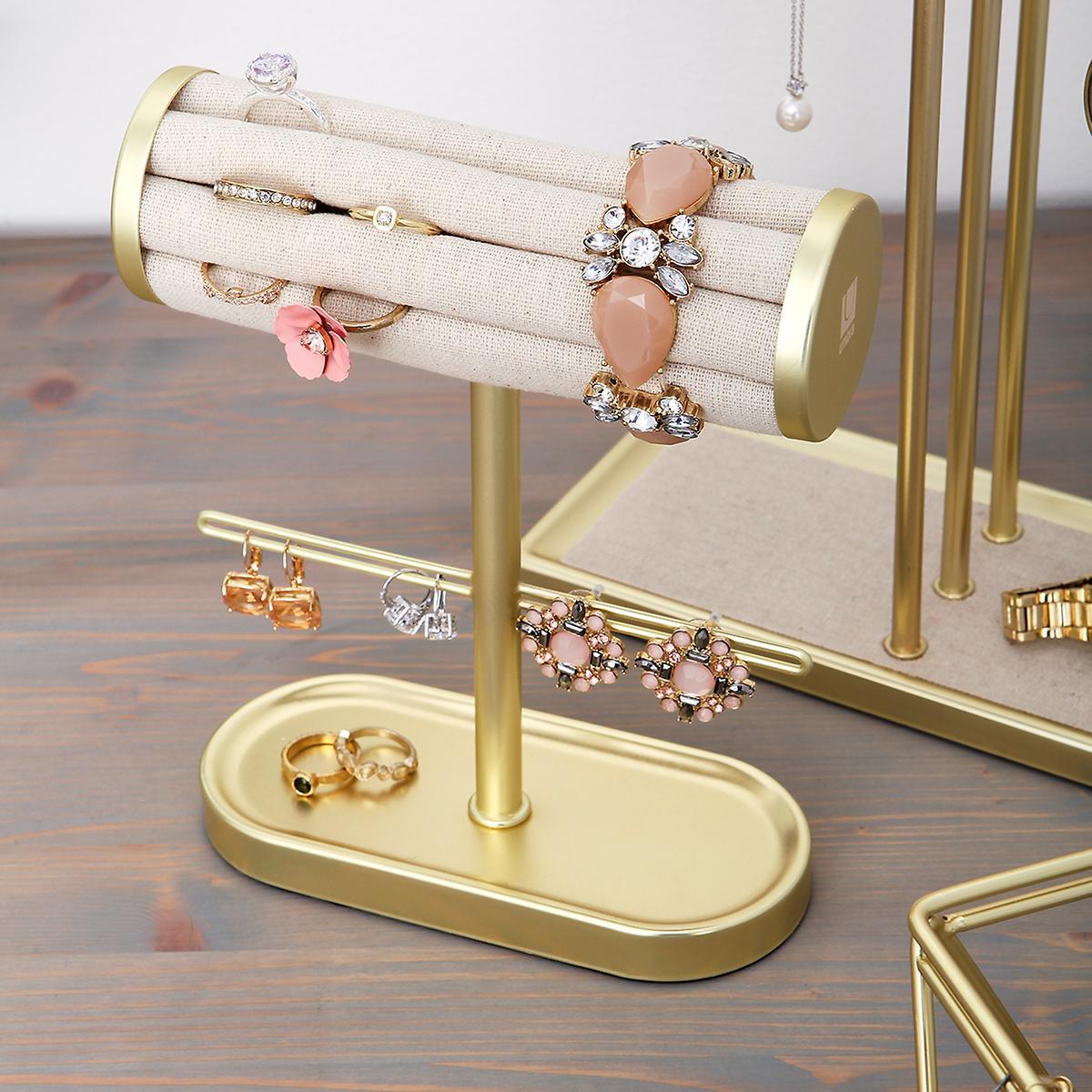 Umbra Gold Circa Bracelet & Ring Holder