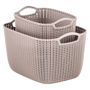 Curver Sand Knit Storage Baskets