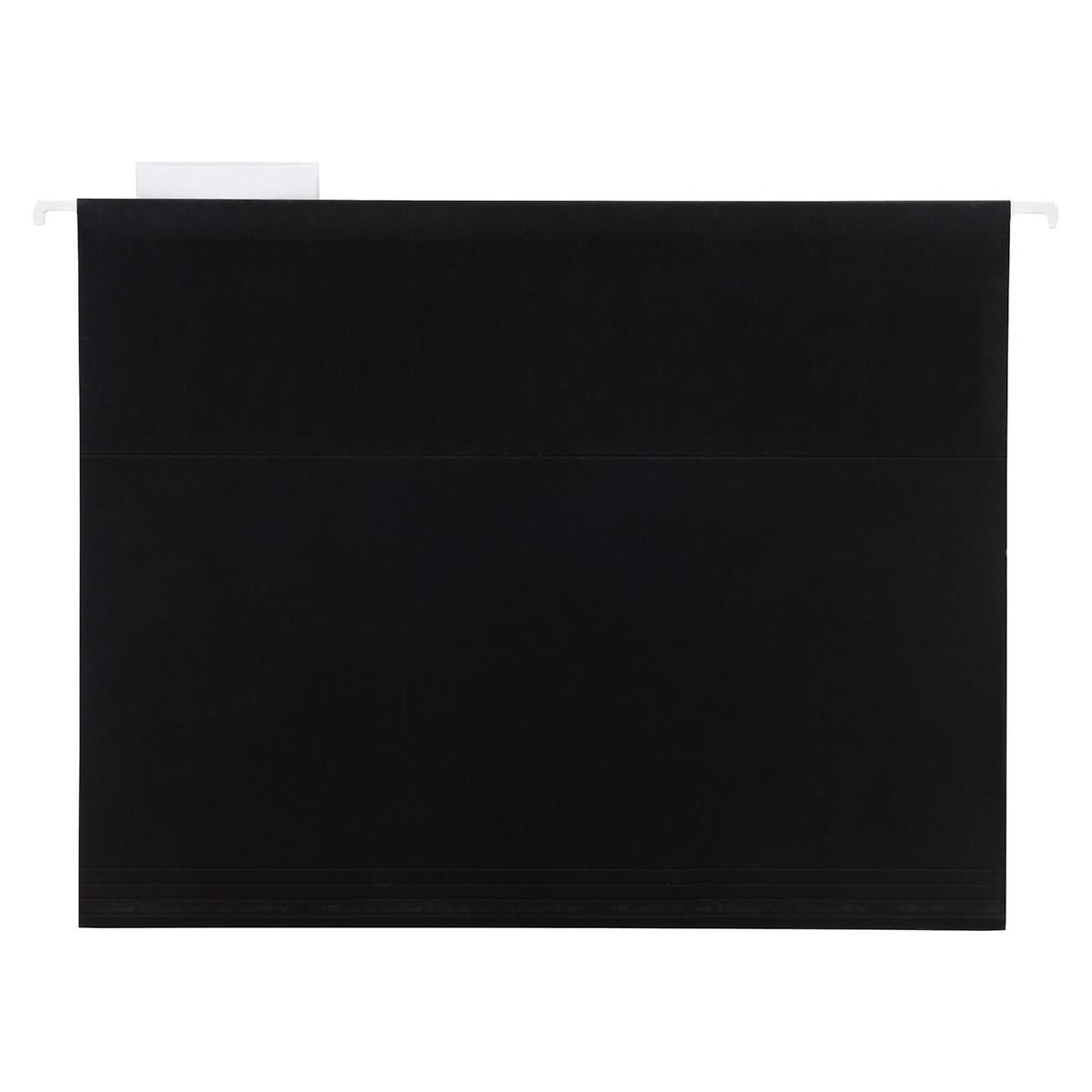 Black Letter-Size Hanging File Folders