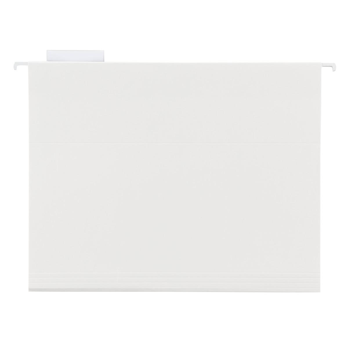 White Letter-Size Hanging File Folders