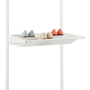 White Elfa Gliding Mesh Shoe Shelves