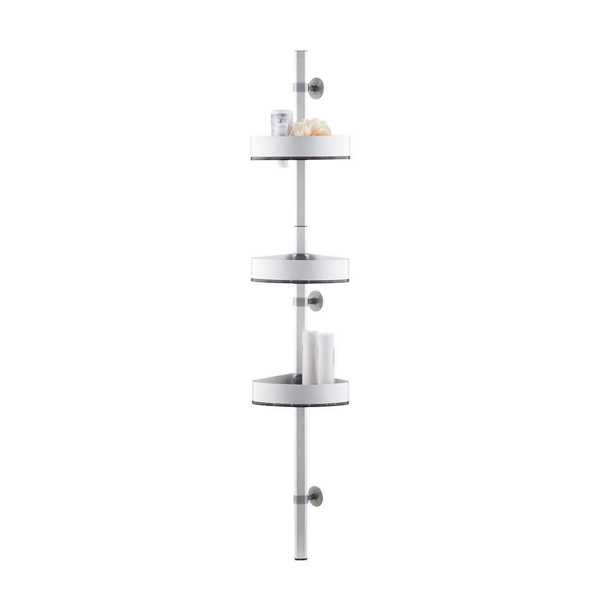 InterDesign Affixx Adjustable Aluminum Shower Station