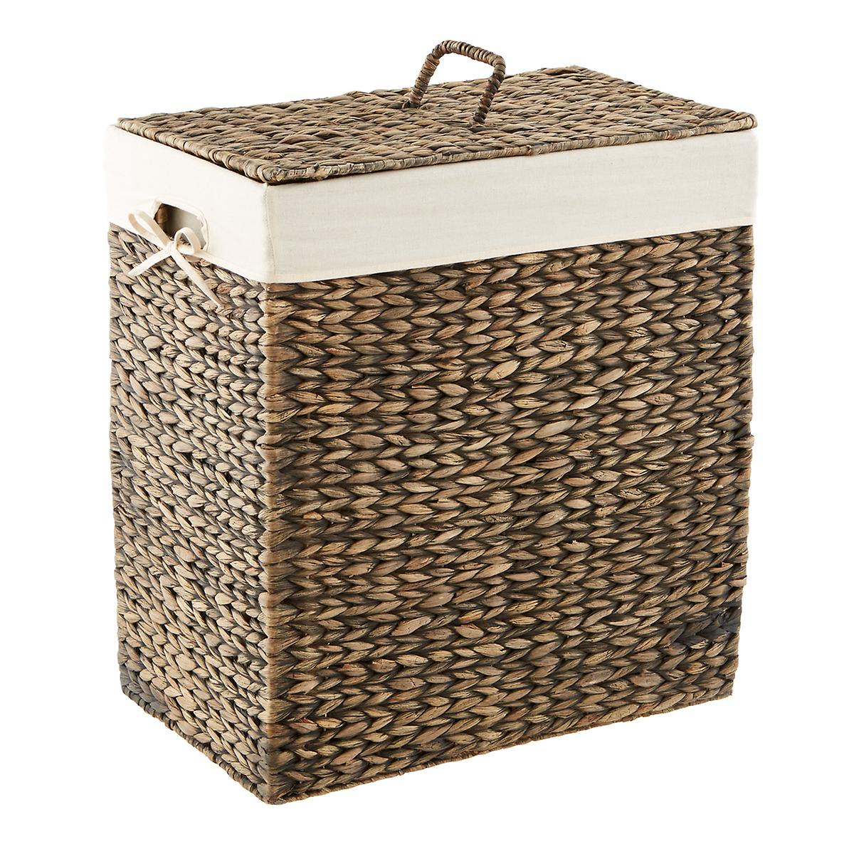 Mocha Rectangular Water Hyacinth Hamper