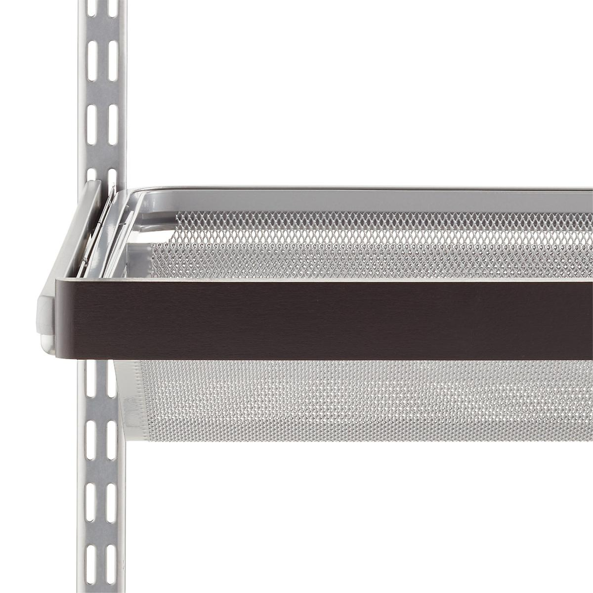 Walnut Elfa Décor Gliding Shelf Fascia