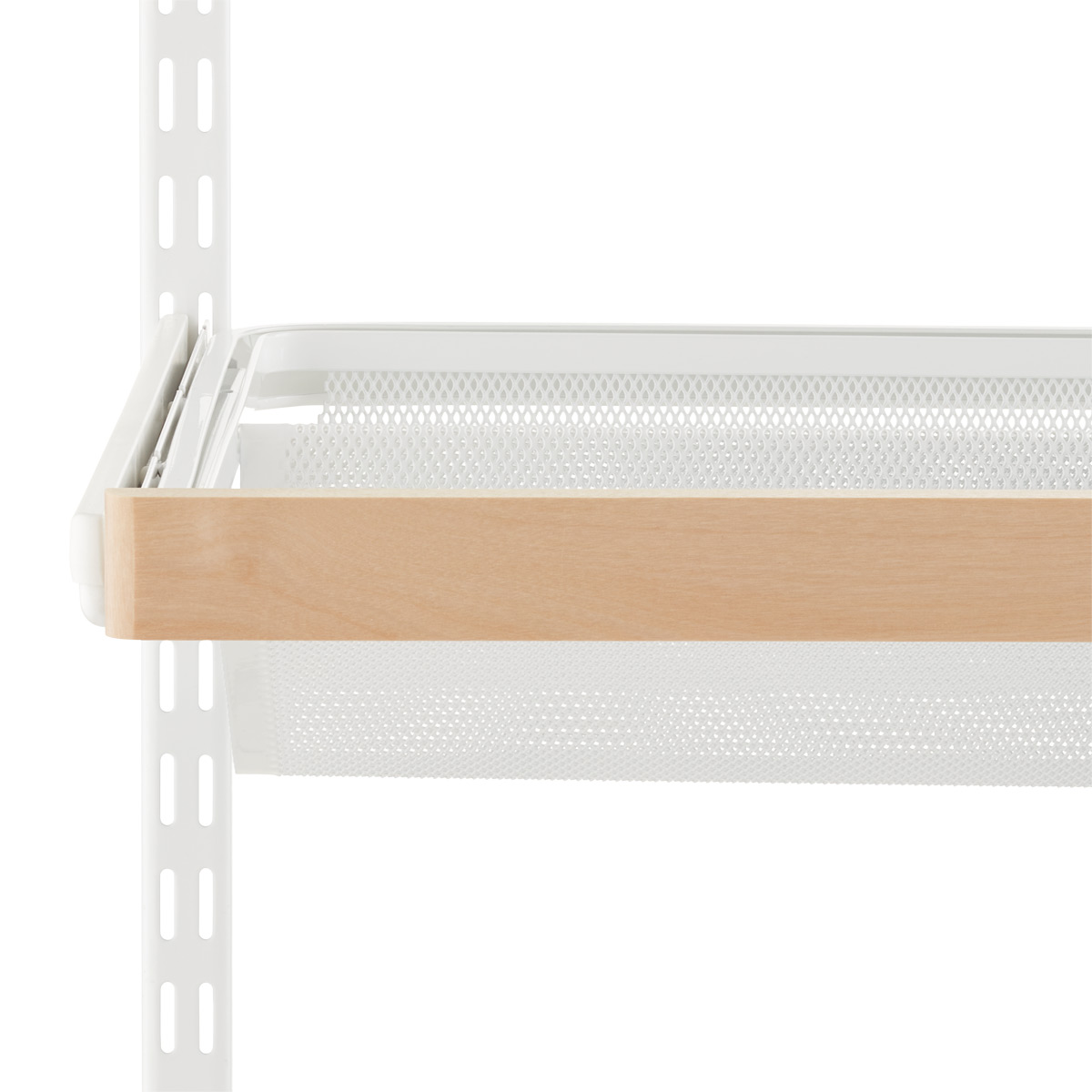 Birch Elfa Décor Gliding Shelf Fascia