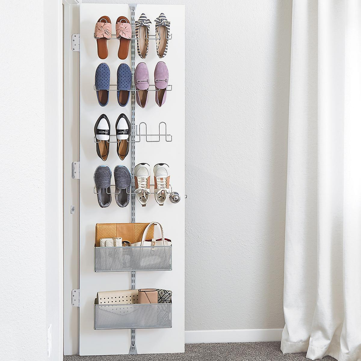 Elfa Utility Shoe Storage Over the Door Rack