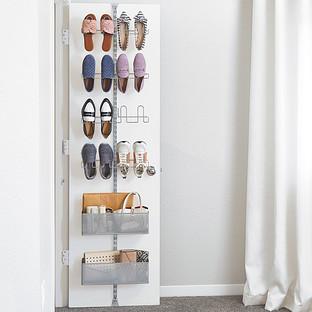 Elfa Utility Shoe Storage Door Amp Wall Rack The Container