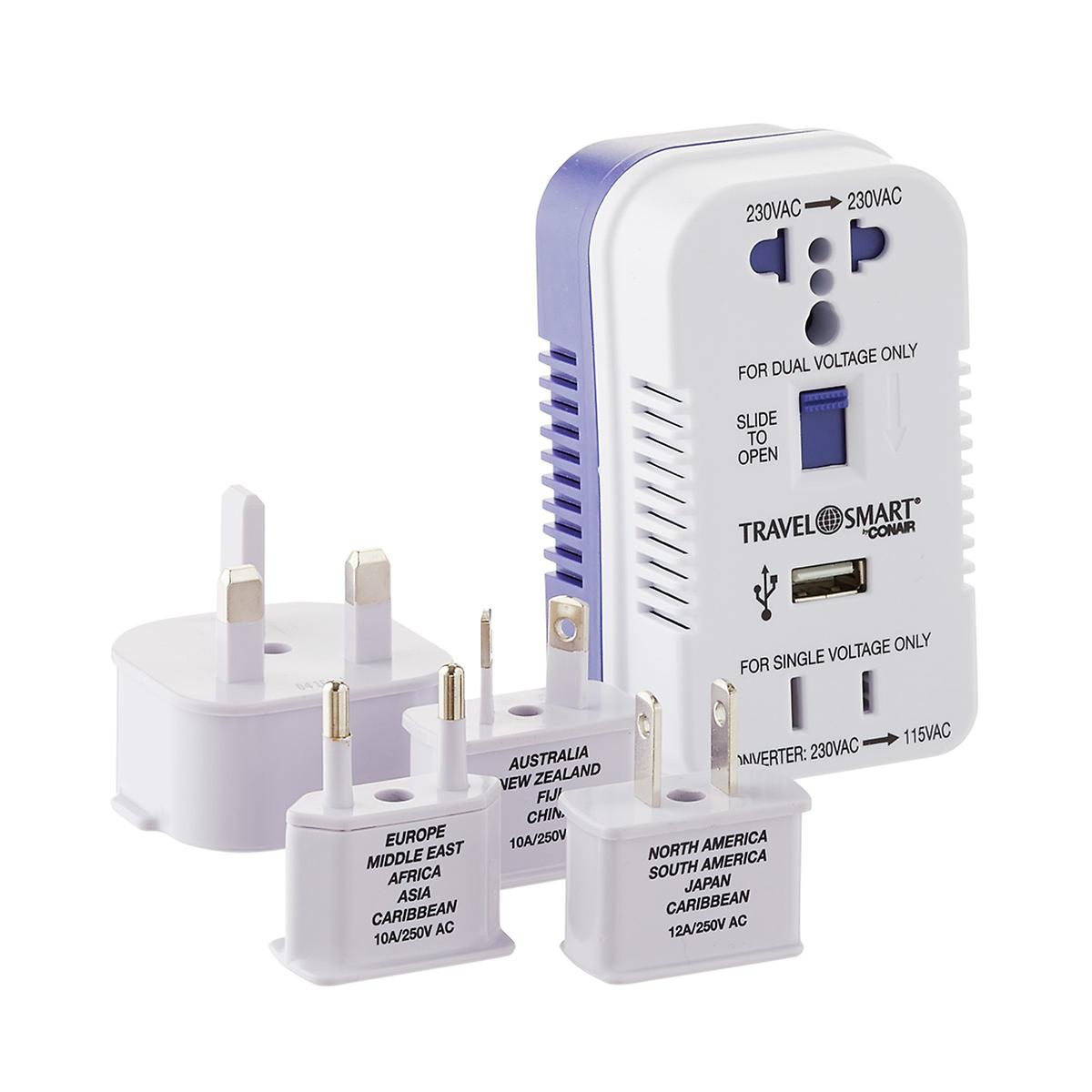 2-Outlet Converter & Adapter Set with USB