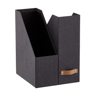 Bigso Black Woodgrain Magazine Holder