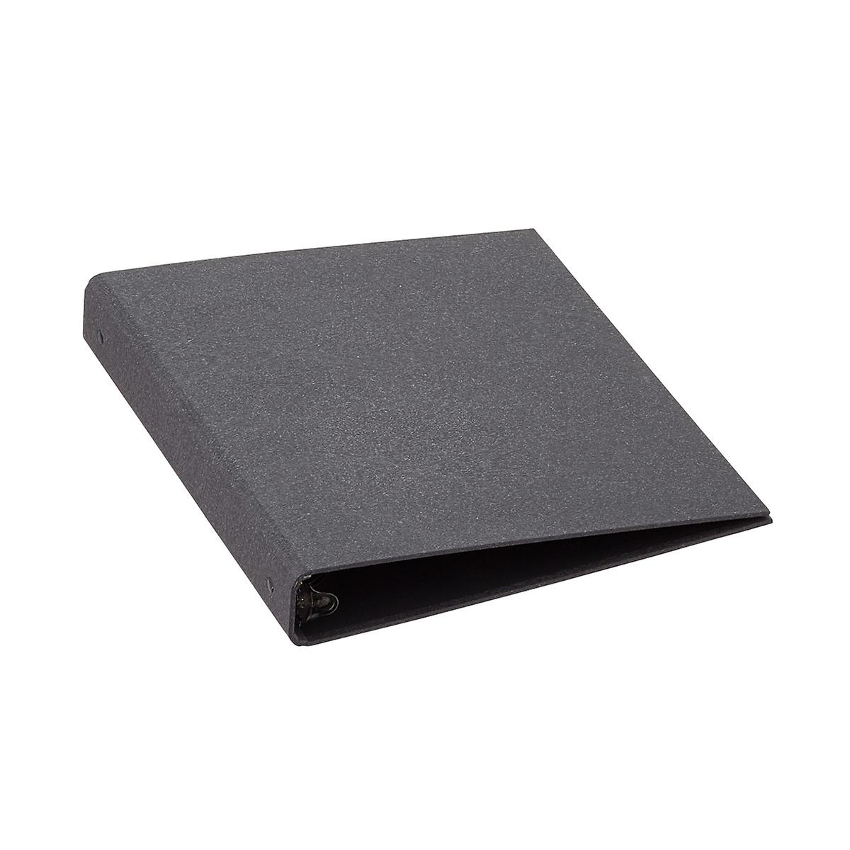 "Bigso Black Woodgrain 1"" Three-Ring Binder"