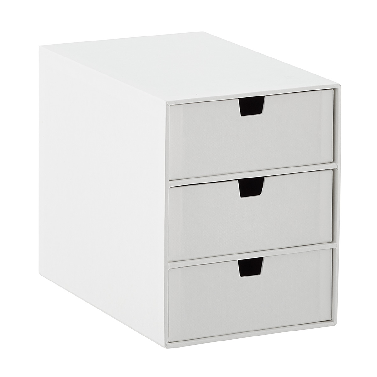Bigso White Stockholm 3-Drawer Box