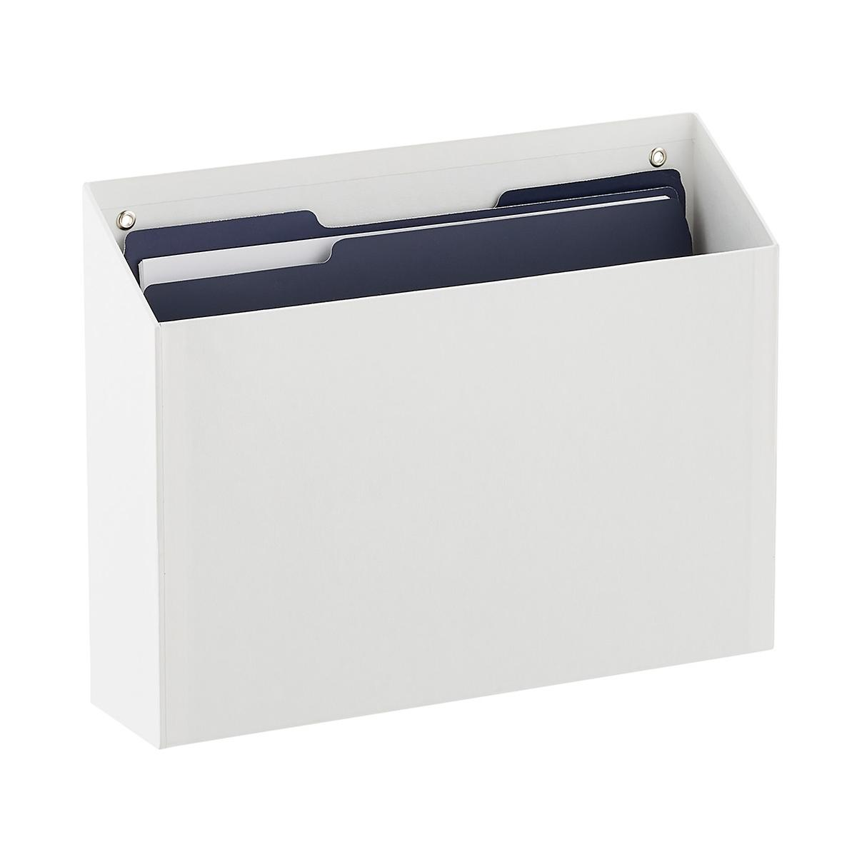 Bigso White Stockholm Hanging Wall File The Container Store